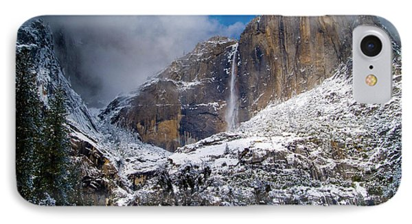Winter At Yosemite Falls Phone Case by Bill Gallagher