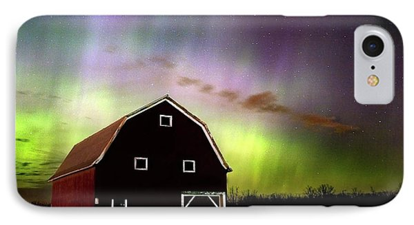 IPhone Case featuring the photograph Winter Aurora by Timothy McIntyre