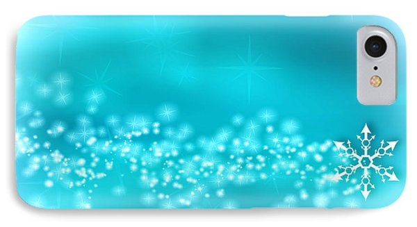 Winter Background IPhone Case by Modern Art Prints