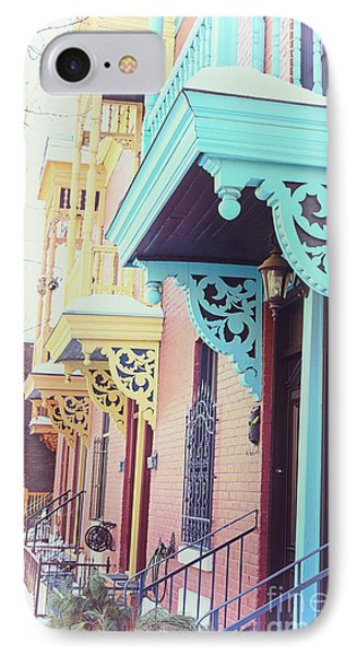 Winter Balconies In Montreal IPhone Case by Jane Rix