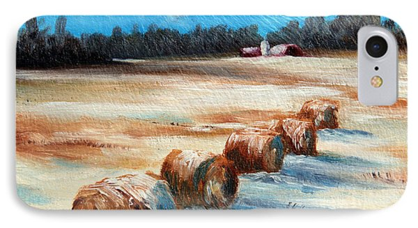 Winter Bales IPhone Case by Meaghan Troup