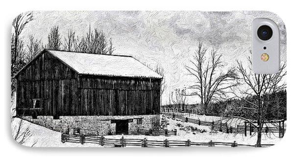 Winter Barn Impasto Version Phone Case by Steve Harrington