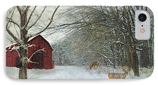 Winter Barn IPhone Case by Lianne Schneider