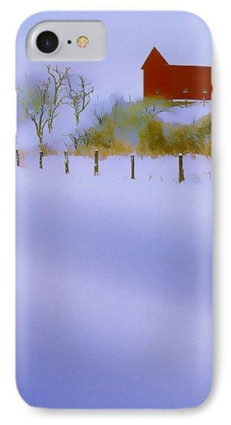 Winter Barn Phone Case by Ron Jones