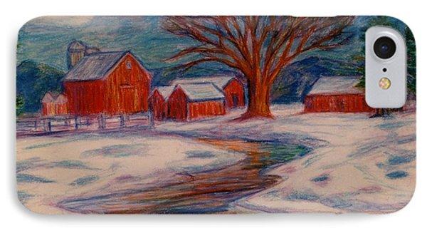 Winter Barn Scene IPhone Case