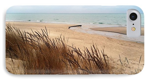 Winter Beach At Pier Cove IPhone Case by Michelle Calkins
