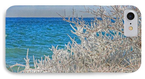Winter Beach Phone Case by Michael Allen