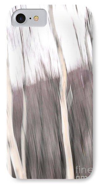 Winter Birches Tryptich 1 IPhone Case