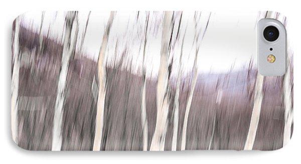 Winter Birches Tryptich 2 IPhone Case
