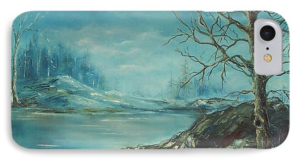 Winter Blue IPhone Case by Mary Wolf