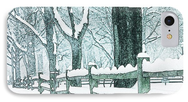 Winter Blues Phone Case by John Stephens