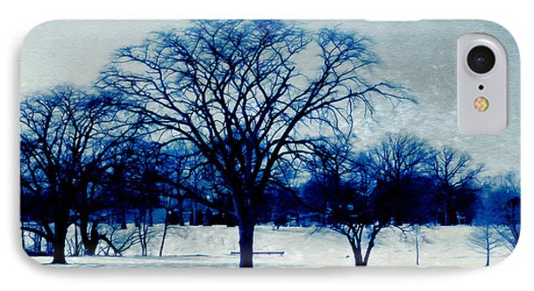 Winter Blues Phone Case by Shawna Rowe