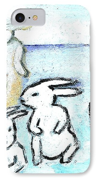 Winter Bunnies IPhone Case by Michael Dohnalek