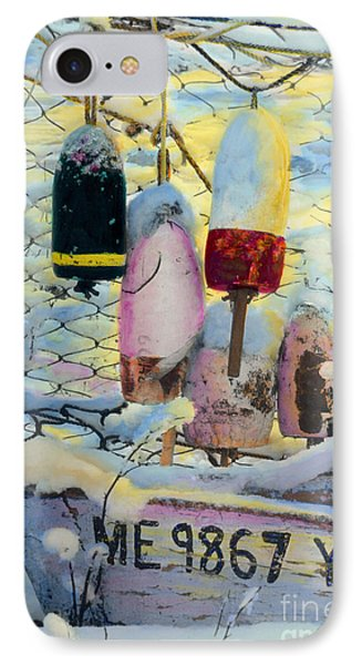 Winter Buoys IPhone Case by Cindy McIntyre