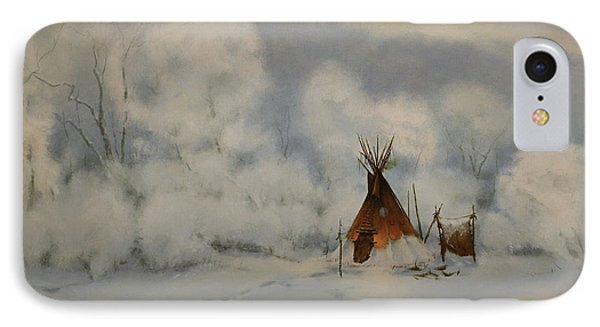 Winter Camp IPhone Case by Richard Hinger