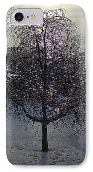 Winter Candelabrum IPhone Case by Henryk Gorecki