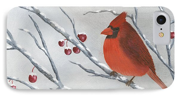 Winter Cardinal Phone Case by Peter Miles
