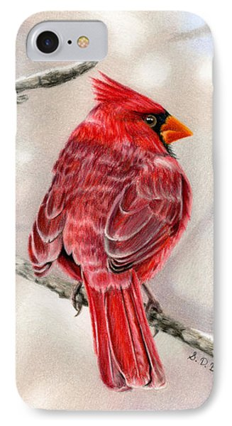 Winter Cardinal IPhone Case by Sarah Batalka