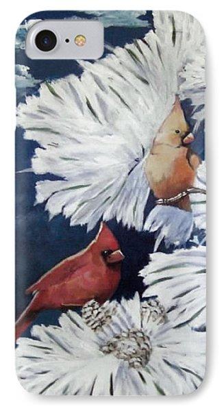 Winter Cardinals IPhone Case by Catherine Swerediuk