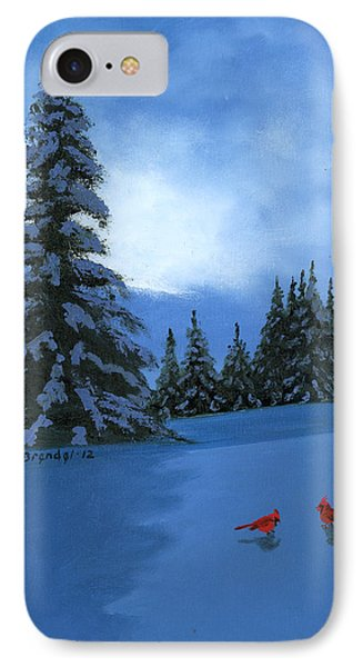 Winter Christmas Card 2012 Phone Case by Cecilia Brendel