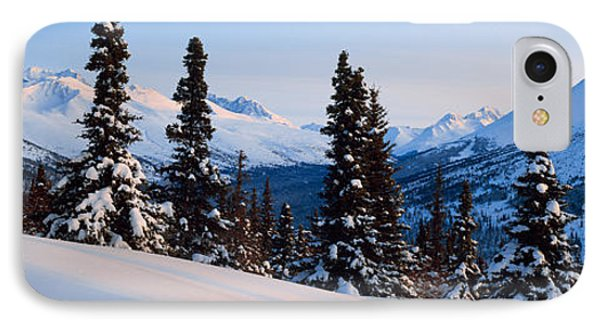 Winter Chugach Mountains Ak IPhone Case by Panoramic Images