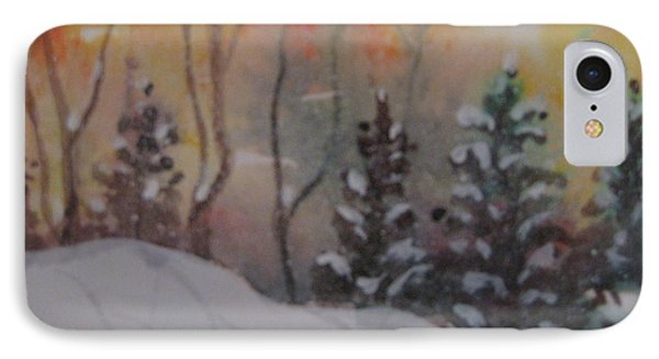 IPhone Case featuring the painting Winter Cold by Gretchen Allen