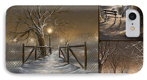 Winter Collage IPhone Case by Veronica Minozzi