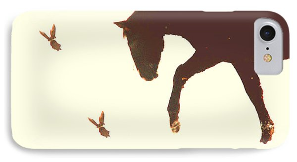 IPhone Case featuring the photograph Winter Colt With Two Magpies by Anastasia Savage Ealy