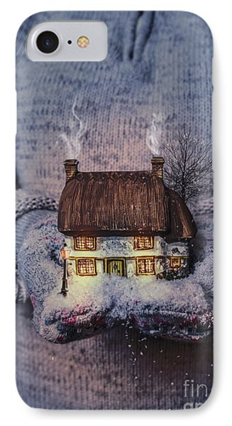 Winter Cottage At Night IPhone Case