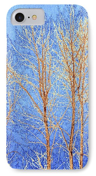 Winter Cottonwoods Abstract Phone Case by Will Borden