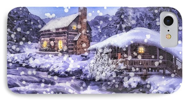 Winter Creek Phone Case by Mo T
