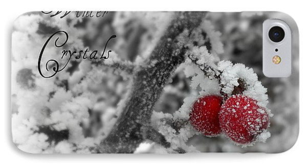 Winter Crystals On Red IPhone Case by Heidi Manly