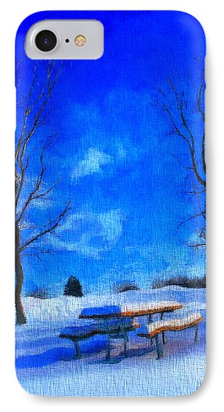 Winter Day On Canvas IPhone Case