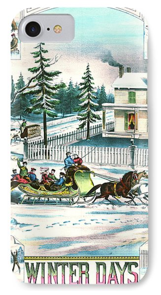 Winter Days 1881 IPhone Case by Padre Art