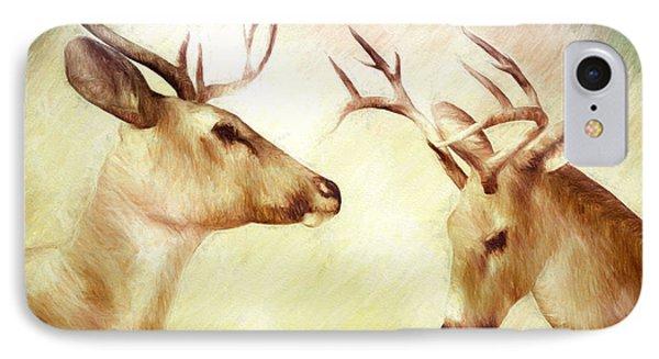 Winter Deer Phone Case by Bob Orsillo