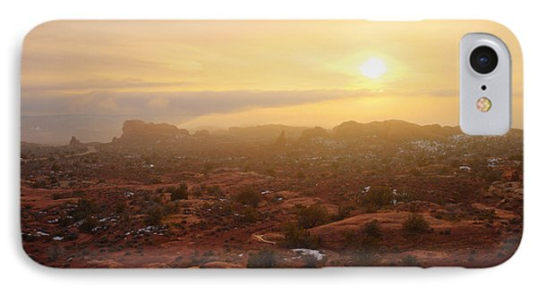 Winter Desert Glow IPhone Case by Chad Dutson