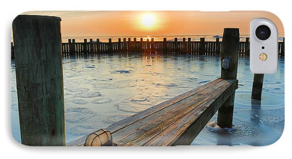 IPhone Case featuring the photograph Winter Docks by Jennifer Casey