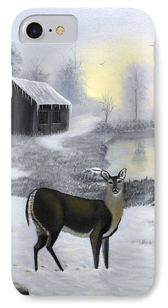 Winter Doe IPhone Case by Sheri Keith