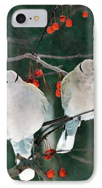 Winter Doves IPhone Case by Betty LaRue