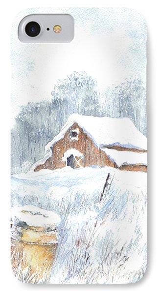 Winter Down On The Farm Phone Case by Carol Wisniewski