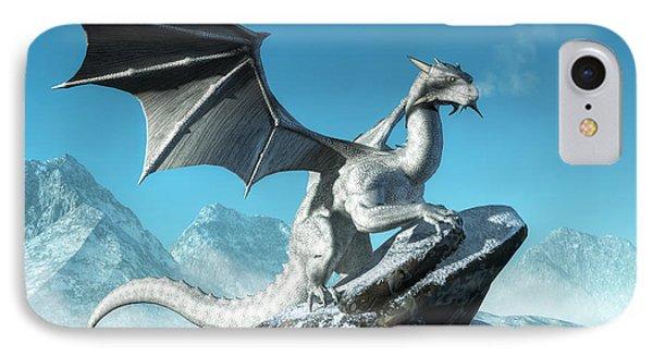 Winter Dragon Phone Case by Daniel Eskridge