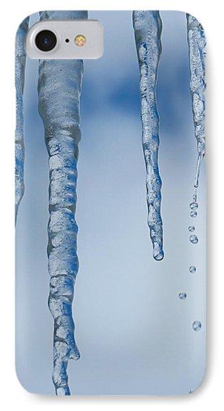 Winter Drips Away IPhone Case by Rita Mueller