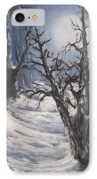 IPhone Case featuring the painting Winter Eve by Megan Walsh