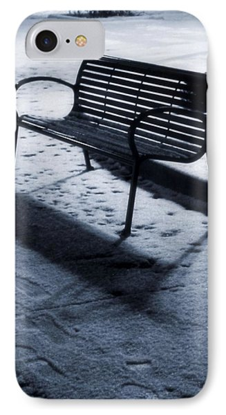 Winter Evening Downtown IPhone Case