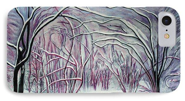 Winter Fairies Phone Case by Barbara McMahon