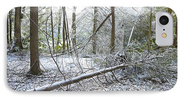 Winter Fallen Tree Phone Case by Thomas R Fletcher