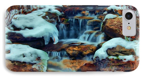 IPhone Case featuring the digital art Winter Falls by Dennis Lundell