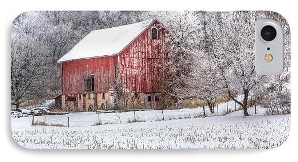 Winter Farm IPhone Case by Kelly Marquardt