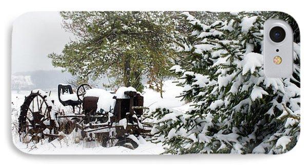 IPhone Case featuring the photograph Winter Farm Landscape by Michelle Joseph-Long