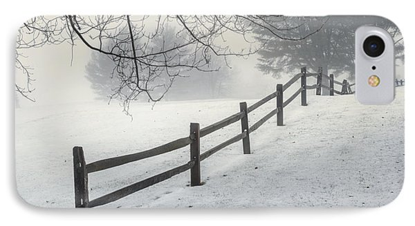 Winter Fence IPhone Case by Bill Wakeley